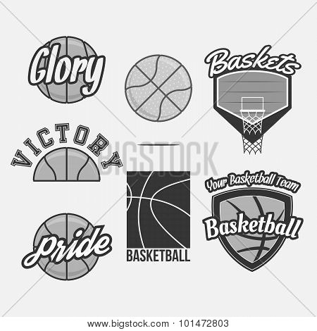 Vector Logo Set for a Basketball Team