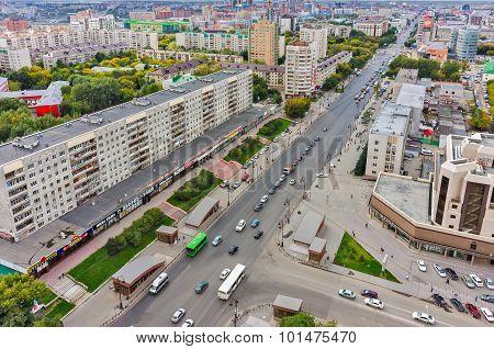 Respubliki and Gorkogo streets Intersection.Tyumen