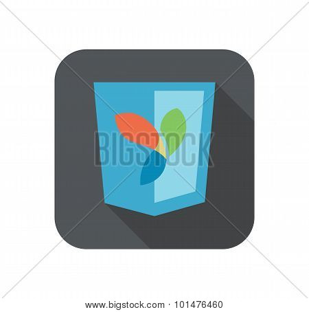 vector illustration of web development shield sign php framework yii. isolated icon on white backgro