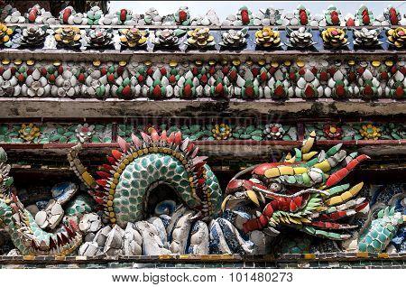Wall detail- Grand Palace Bangkok