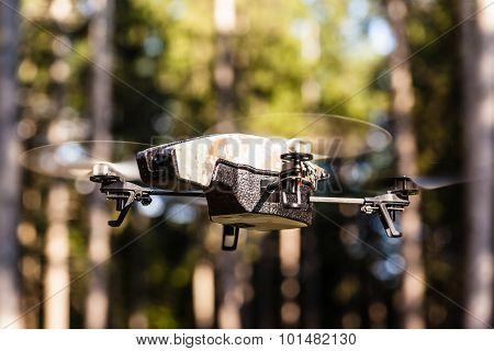 Surveillance Drone In The Wilderness
