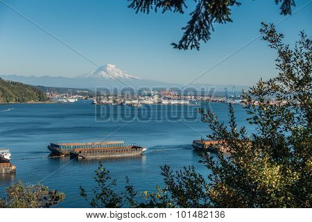 Mount Rainier And Port