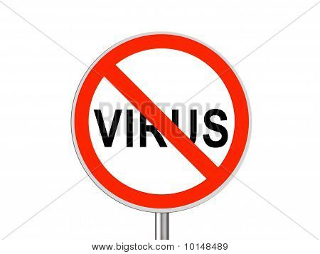 Round Sign No Virus