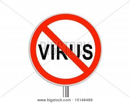 Round Sign No Virus