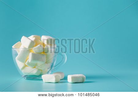 Pastel Color Marshmallow In Glass