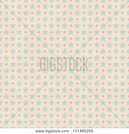 Sweet cute  seamless pattern. Pink and blue shabby color