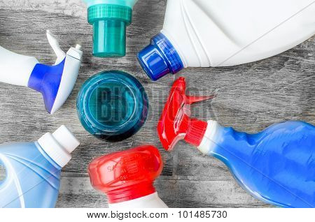 Detergents, Fabric Softeners And Liquid Doser Scoop For Washing Clothes