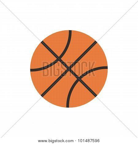 Basketball ball icon, modern minimal flat design style, vector illustration