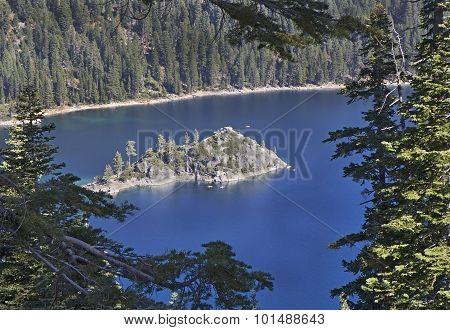 Emerald Bay Fannette Island, Lake Tahoe, California