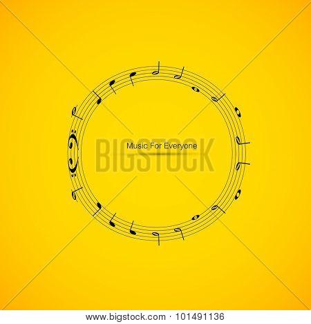 Sheet music easy editable