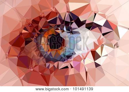 eye triangles design easy editable