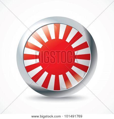 Japanese War flag button - vector illustration