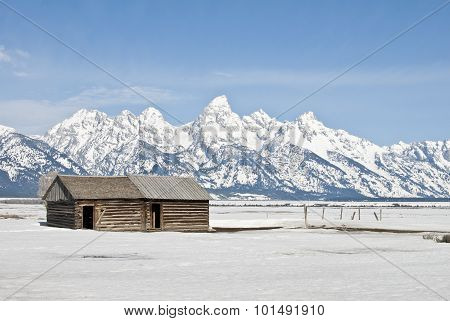 Tetons And Cabin