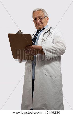 Stern Looking Older Doctor