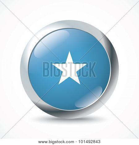 Somalia flag button - vector illustration