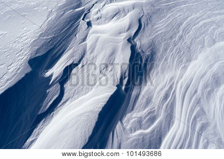 Abstract texture weathered snow. Background for design