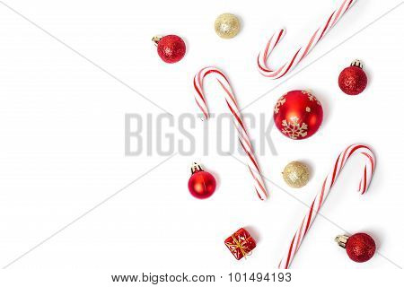 christmas candies and balls