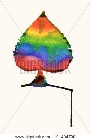 Rainbow sheet. Watercolor sketch
