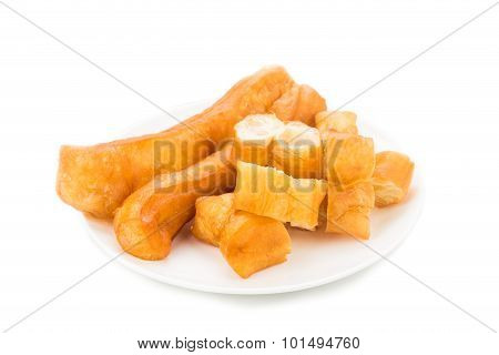 Fried Bread Stick Or Popularly Known As You Tiao, A Popular Chinese Cuisine.