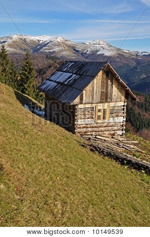 Hut on a hillside