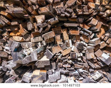 The nature Wooden texture firewood.