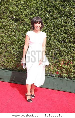 LOS ANGELES - SEP 12:  Constance Zimmer at the Primetime Creative Emmy Awards Arrivals at the Microsoft Theater on September 12, 2015 in Los Angeles, CA