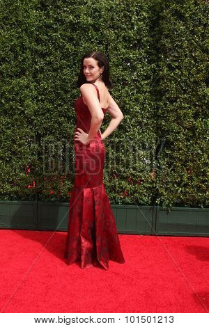 vLOS ANGELES - SEP 12:  Annie Wersching at the Primetime Creative Emmy Awards Arrivals at the Microsoft Theater on September 12, 2015 in Los Angeles, CA