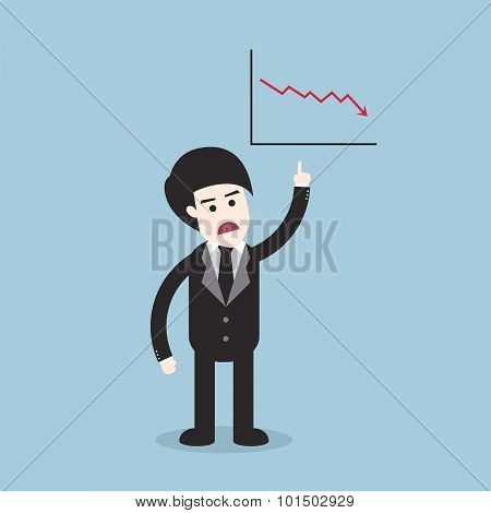 Stock Crisis With Business Man And Graph