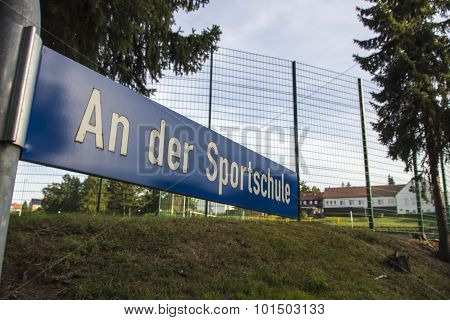 Areal Of The Sportschule In Werdau, Germany, 2015