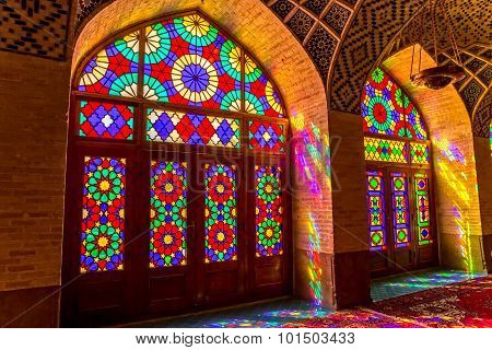 Nasir Al-Mulk Mosque colored glass