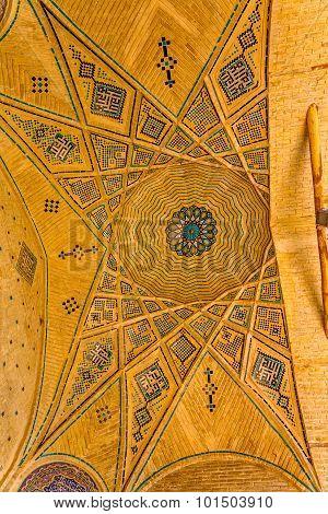 Mausoleum of famous Iranians ceiling
