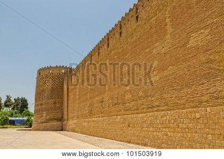Shiraz Citadel wall and Vakil Fortress
