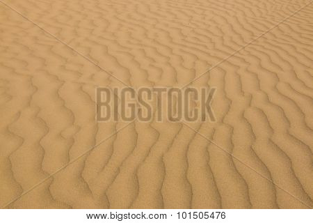 Sand Pattern In The Desert