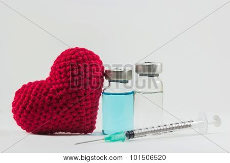 Vaccine And Big Red Heart