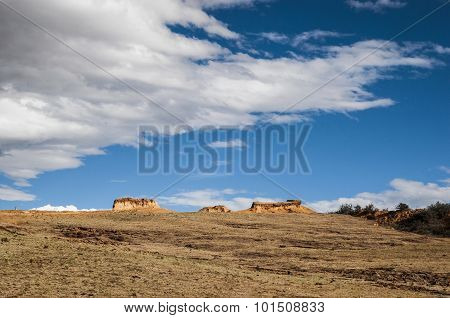 China western loess plateau scenery