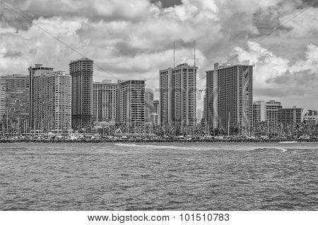 Waikiki Cityscape.