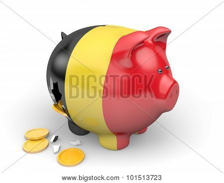 Belgium economy and finance concept for GDP and national debt crisis