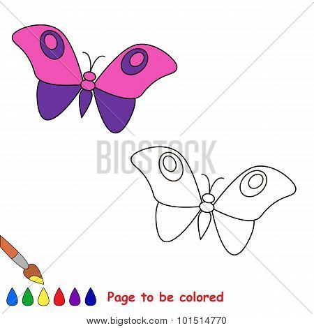 Cartoon butterfly  to be colored.