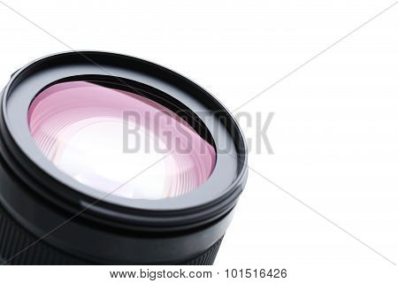 Camera Lens On The White Background