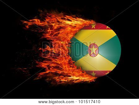Flag With A Trail Of Fire - Grenada