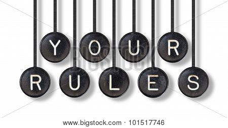 Typewriter Buttons, Isolated - Your Rules