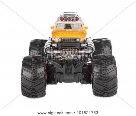 Big truck toy. Front view.