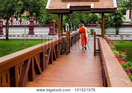 Crossing Wooden Bridge