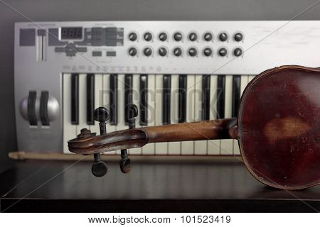 Violin And Synthesizer