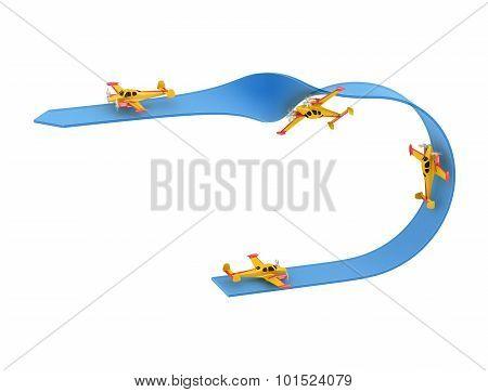 Airplane Aerobatics Half loop