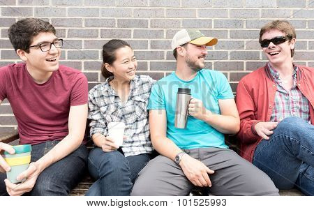 Four Friends Laughing