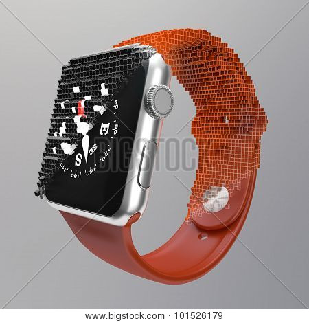 Electronic watch transition