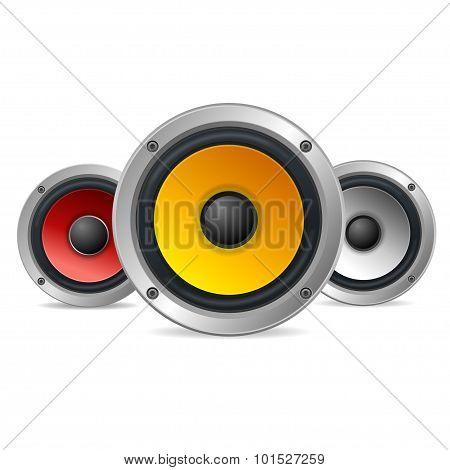 Audio Speakers. Vector