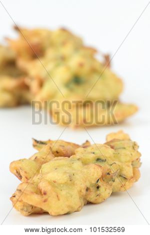 Courgette cakes.