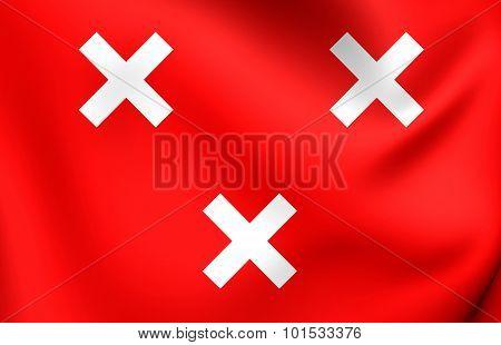 Flag Of Breda City, Netherlands.